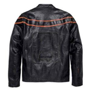 Harley Davidson heren dubbel ton slim fit leren jack 1