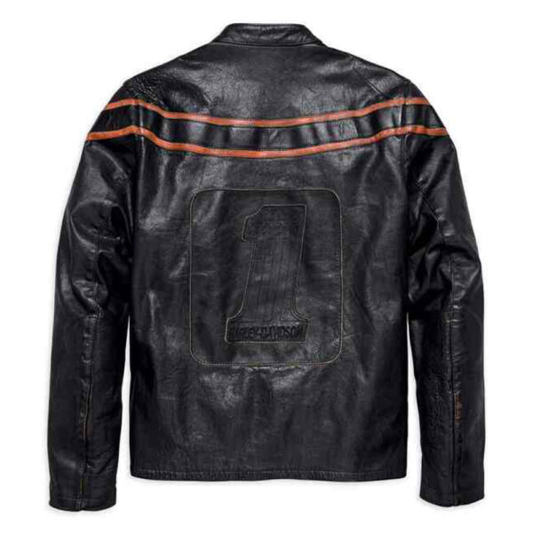 Harley Davidson Mens Double Ton Slim Fit Leather Jacket 1
