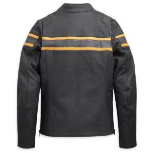 Harley Davidson heren Sidari ventilatie slim fit leren jas