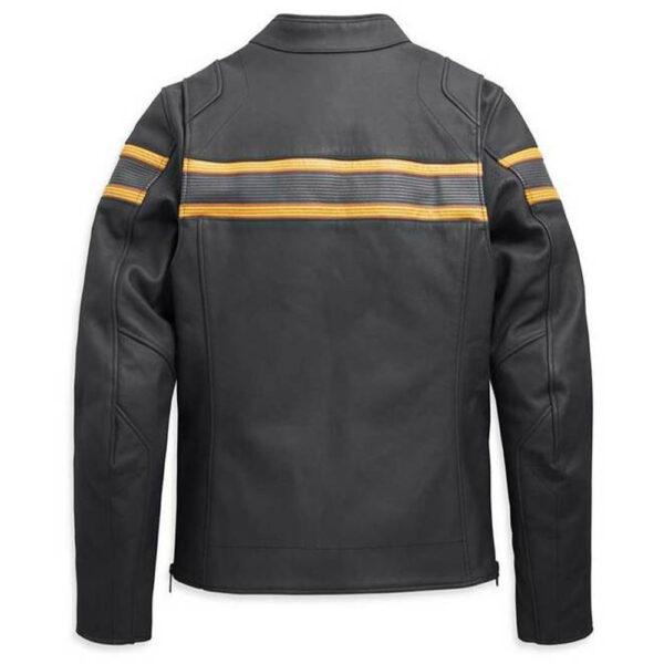 Harley Davidson Mens Sidari Venting Slim Fit Leather Jacket1