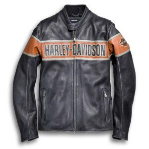 Harley Davidson heren Victory Lane leren jas