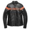 Womens Harley Davidson Jacket - Victory Sweep Leather Jacket