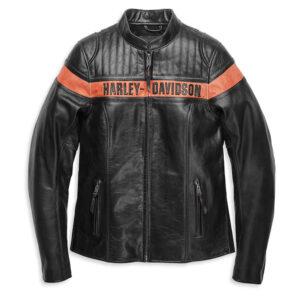 Harley Davidson-jas voor dames - Victory Sweep leren jack